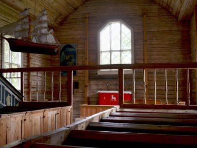 Jumalanpalvelus Seilin museokirkossa